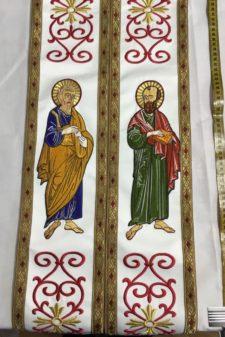 Epitrahil brodat Sf Apostoli 3
