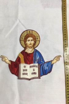 broderie medalion sfinti 1