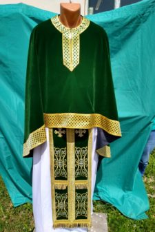 Veșmânt preoțesc catifea